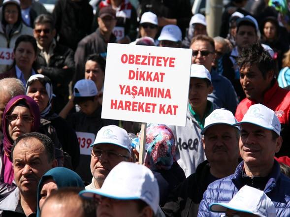 Merkezefendi'de binlerce kişi yürüdü