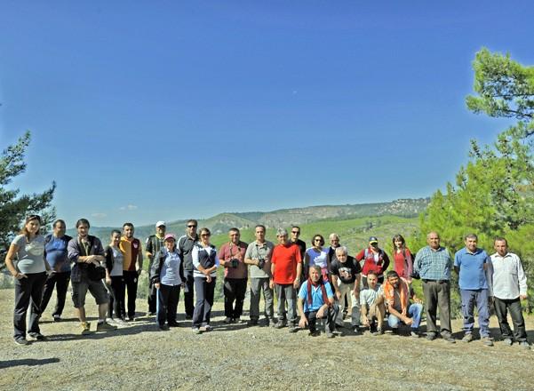Sazak'tan Akçay'a yürüyüş