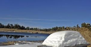 Kar altında Saklıgöl