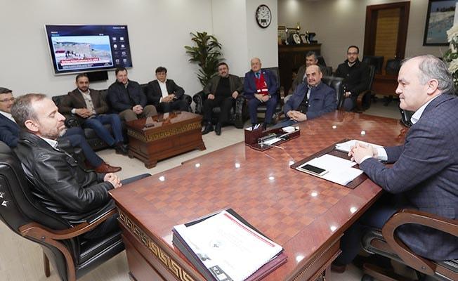 Başkan Gürlesin MÜSİAD Yönetimini ağırladı