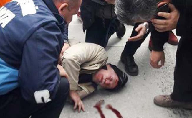 Otobüsün çarptığı yaşlı adam yaralandı