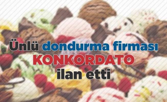 Ünlü dondurma firması konkordato ilan etti