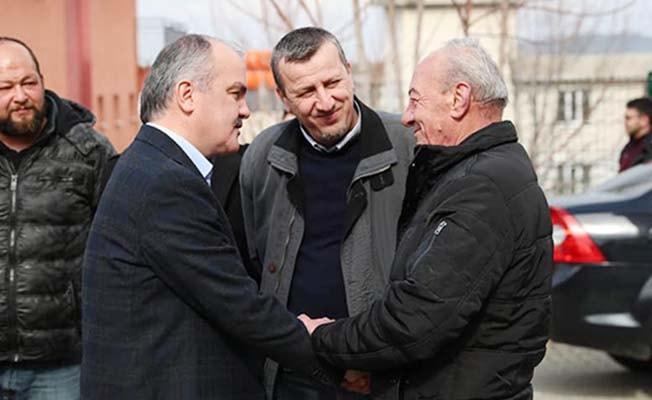 Başkan Gürlesin'den Esnaflara Ziyaret