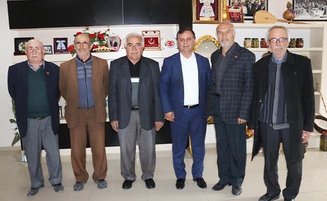 Gaziler, Çal'ın Başkanı Akcan'a moral verdi
