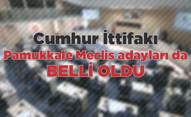 Pamukkale Meclis adayları da belli oldu