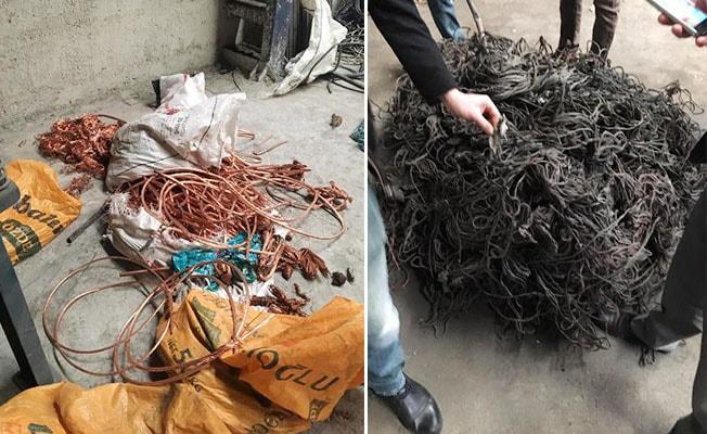 Polis, 700 kg bakır kablo çalan hırsızın peşinde