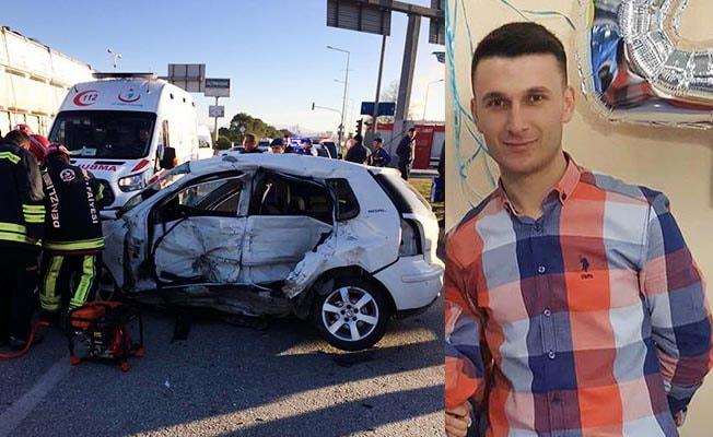Polis memuru kazada yaşamını yitirdi