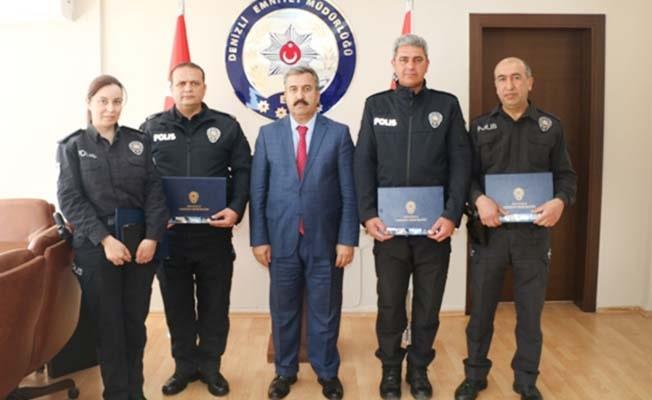 Emniyet Müdürü Demir'den başarılı personele ödül
