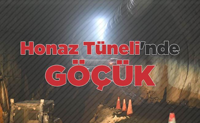 Honaz Tüneli'nde göçük