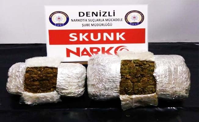İstanbul'dan Denizli'ye skunk sevkiyatını polis engelledi