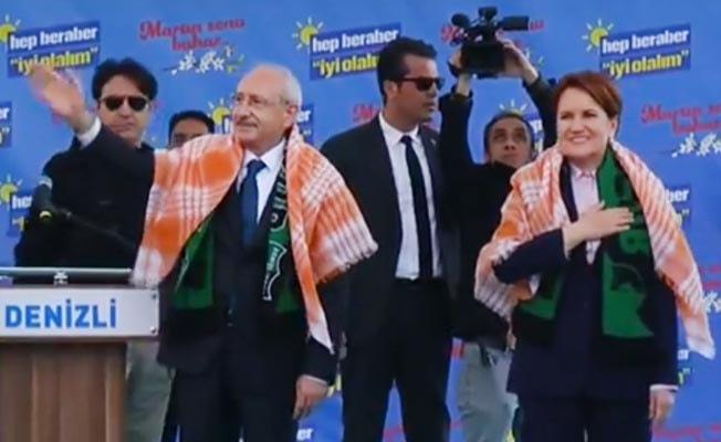 Kılıçdaroğlu ve Akşener Denizli'de halka seslendi