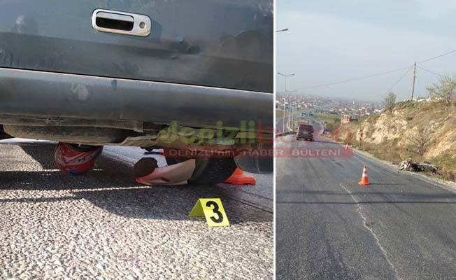 Minibüsün altında kalan motosiklet sürücüsü yaşamını yitirdi
