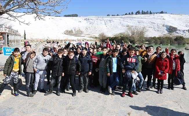 Öğrenciler Pamukkale tarihini öğrendi
