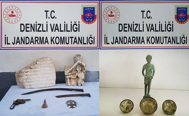 Tavas ve Pamukkale'de tarihi eser operasyonu