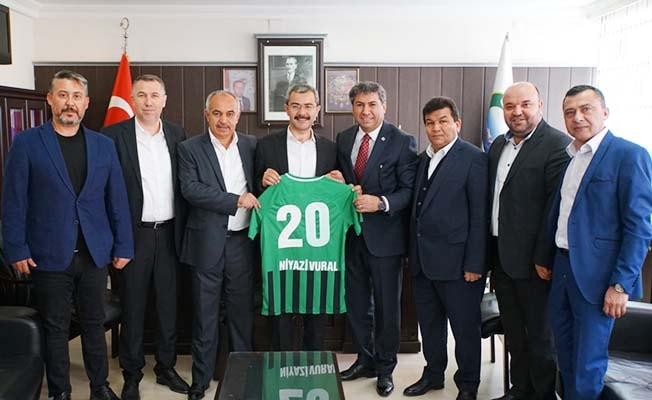 Abalı Denizlispor'lu yöneticilerden başkanlara hayırlı olsun ziyareti