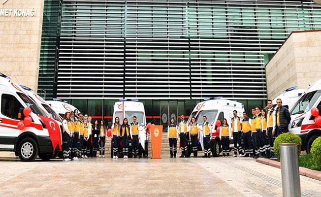 Denizli'ye 7 yeni Ambulans