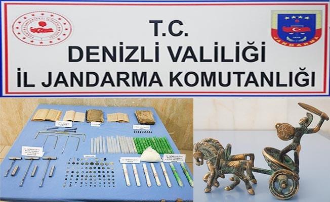 Honaz ve Sarayköy'de tarihi eser operasyonu