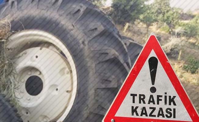 Su kanalına devrilen traktörün sürücüsü yaşamını yitirdi