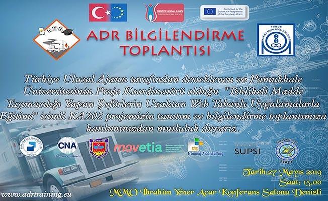 ADR bilgilendirme toplantısı Denizli'de yapılacak