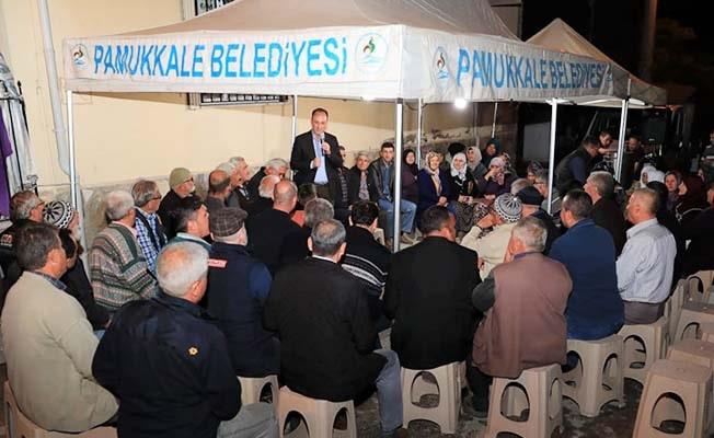 Başkan Örki ilk teravih namazını Dokuzkavaklar'da kıldı