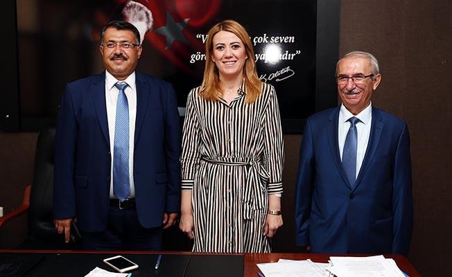 Başsavcı Yılmaz ve Adalet Komisyonu Başkanı Ortaköy' Başkan Doğan'a ziyaret