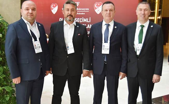 Başkan Çetin'den TFF Başkanı Özdemir'e kutlama