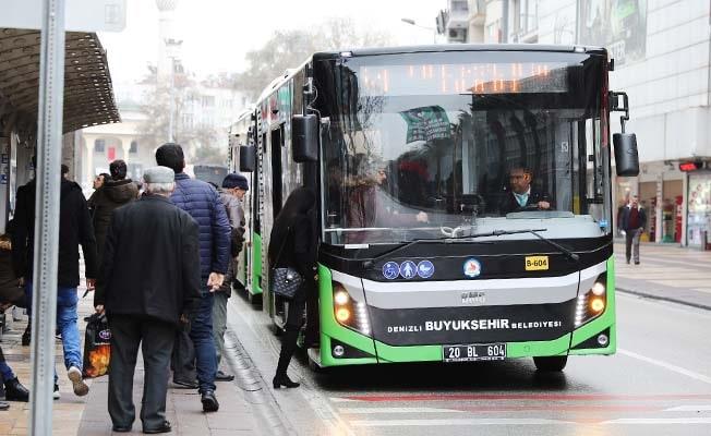 Denizli'de otobüsler bayramın ilk günü ücretsiz