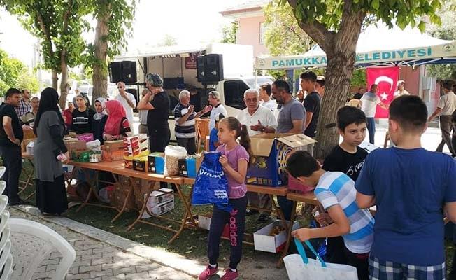 Pamukkale'de bayram geleneği yaşatıldı