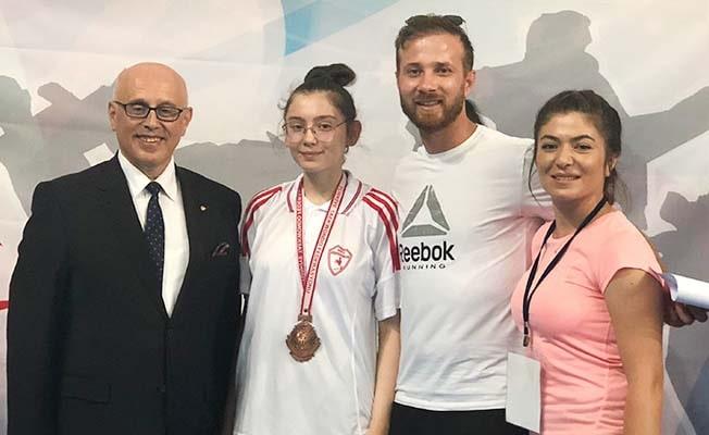 Sueda Teakwondo'da Türkiye 3'üncüsü oldu