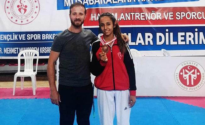 Taekwondo'da Denizli'den bir Türkiye 3'üncüsü daha