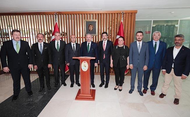 TBMM Başkanı Şentop, Vali Karahan'ı ziyaret etti