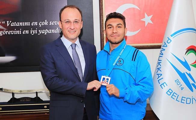 Başkan Örki Dünya Şampiyonunu ağırladı