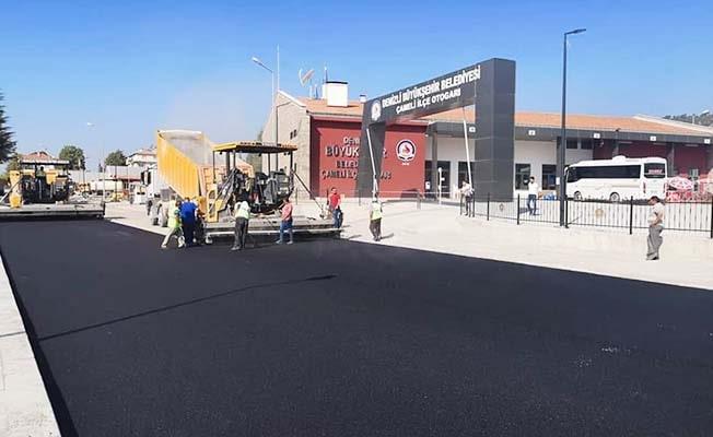 Çameli'de sıcak asfalt çalışmaları