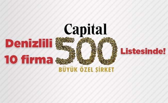 Denizlili 10 firma 'Capital 500 Listesi'nde!