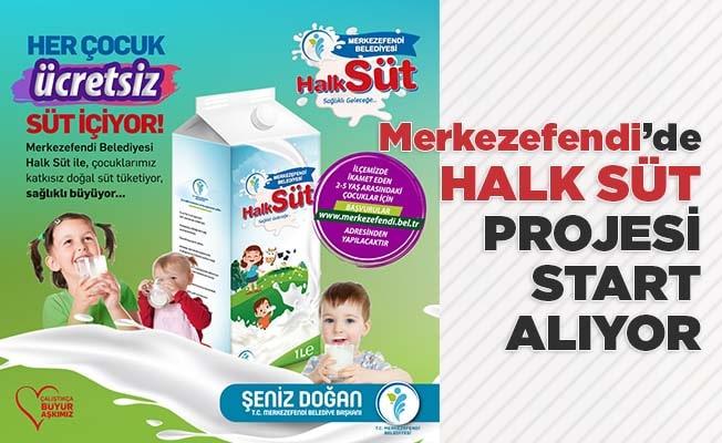 Merkezefendi'de 2 ile 5 yaş arasındaki çocuklara aylık 4 litre süt