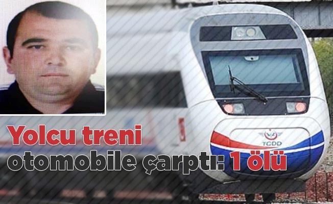 Yolcu treni hemzemin geçitte otomobile çarptı: 1 ölü