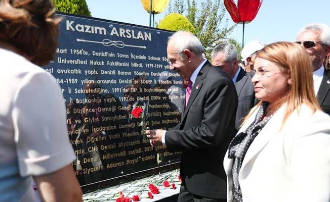 Kılıçdaroğlu Kazım Arslan Anıtı'nı açtı