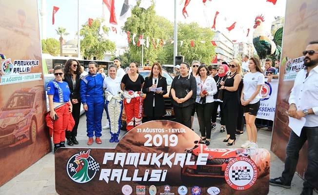 Pamukkale Rallisi'nde 'Kadına şiddete hayır!' vurgusu