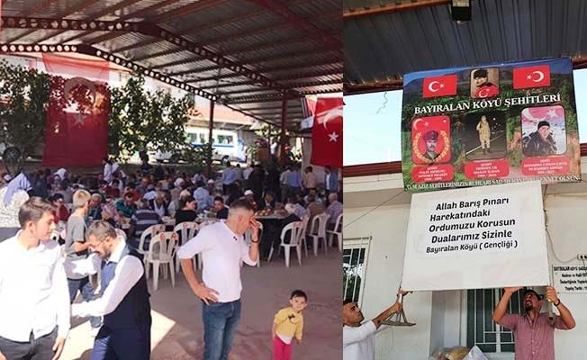 Barış Pınarı Harekatı'ndaki askerlere selam yolladılar