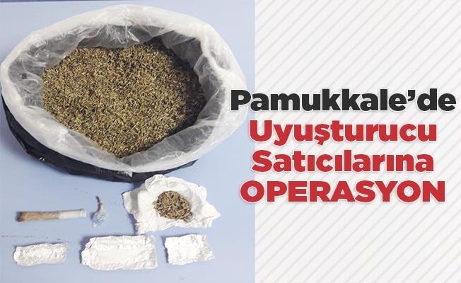 Pamukkale'de uyuşturucu satıcılarına operasyon