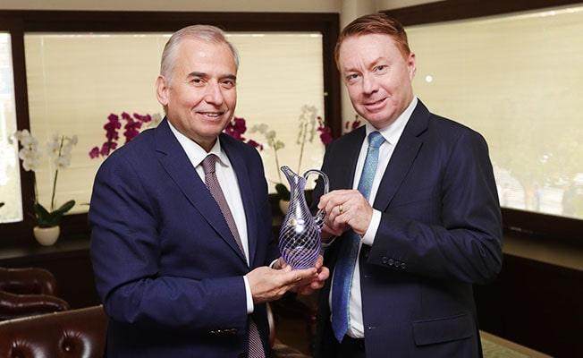Avustralya Büyükelçisi'nden Başkan Zolan'a ziyaret