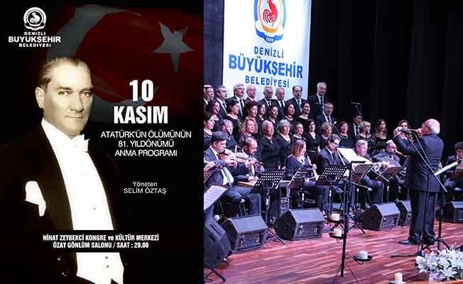 Büyükşehir TSM Korosu Büyük Önder için söyleyecek