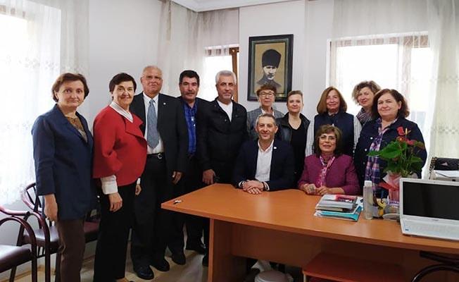 CHP il yönetiminden emekli öğretmenlere ziyaret
