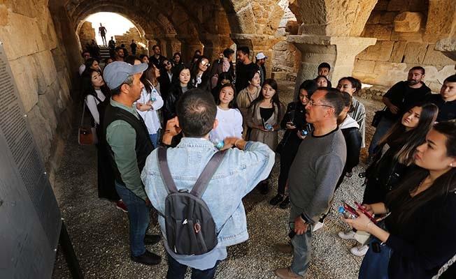Erasmus öğrencileri Rektör Bağ ile birlikte Tripolis'i gezdi