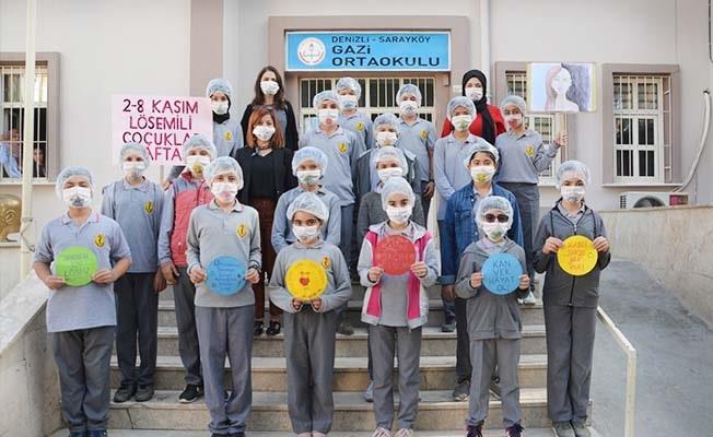 Ortaokulu öğrencileri LÖSEV farkındalık etkinliği ile takdir topladı