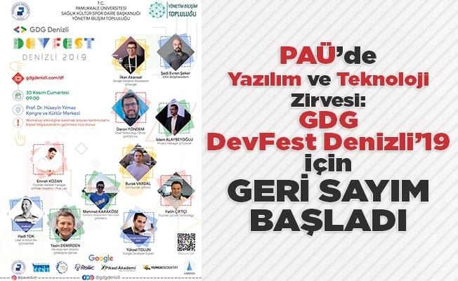 PAÜ'de Yazılım ve Teknoloji Zirvesi: GDG DevFest Denizli'19 için geri sayım başladı