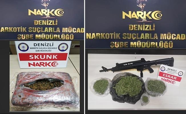 Denizli'de uyuşturucuya 19 tutuklama
