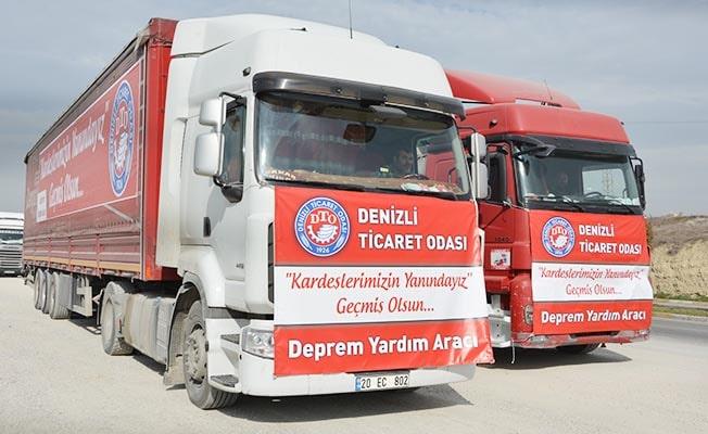 DTO'nun yardım TIR'ları yola çıktı