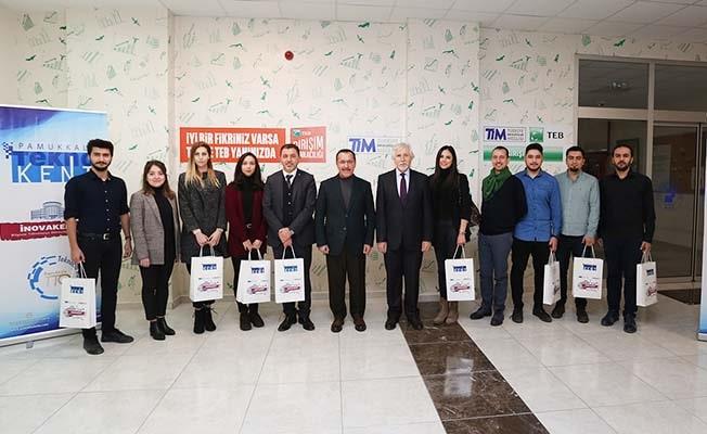 Projeleriyle destek almaya hak kazanan öğrencilere Rektör Bağ'dan tebrik