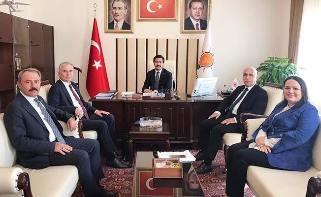 Vali Karahan ve Başkan Zolan Ankara'da